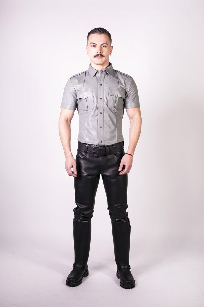Prowler RED Slim Fit Police Shirt Grey Large