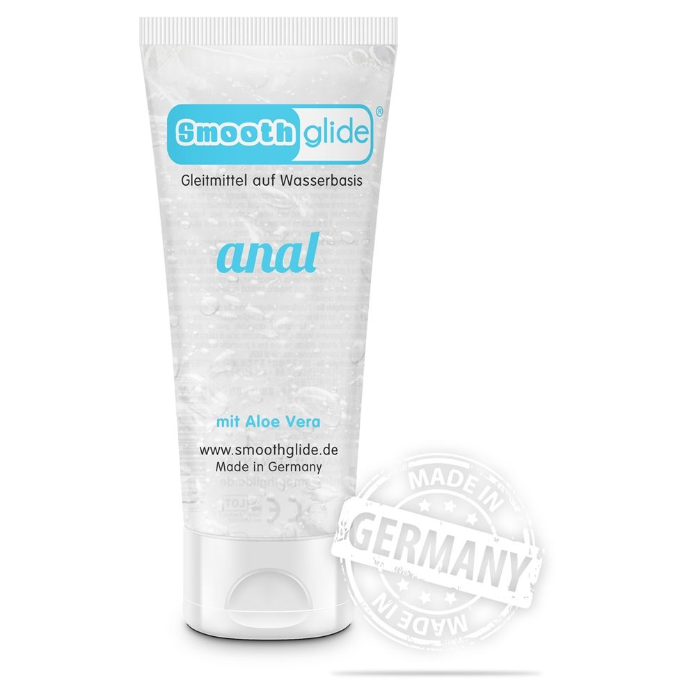 Smooth Glide Waterbased Anal with Aloe Vera Lubricant Transparent 100ml