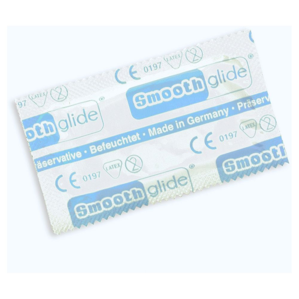 Smooth Glide Condom 54mm Transparent 3 Pack
