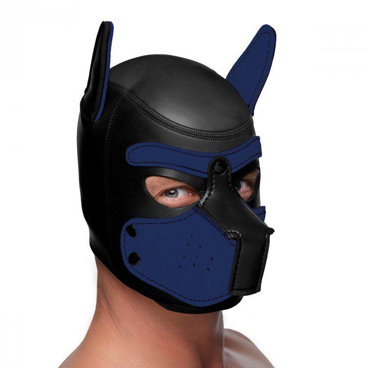 Spike Neoprene Puppy Hood - Blue