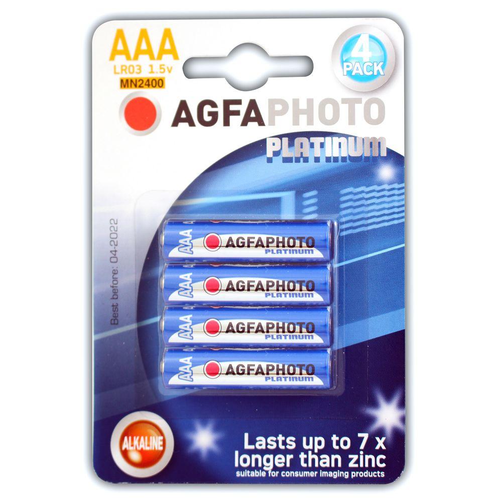 Agfa Agfa Alkaline Aaa 4 Batteries Per Card Blue