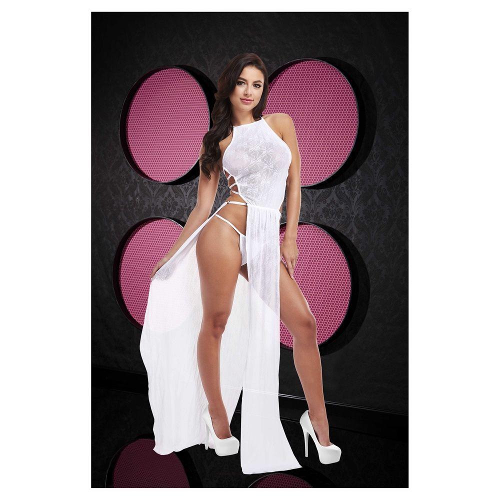 Lapdance Lace Gown White