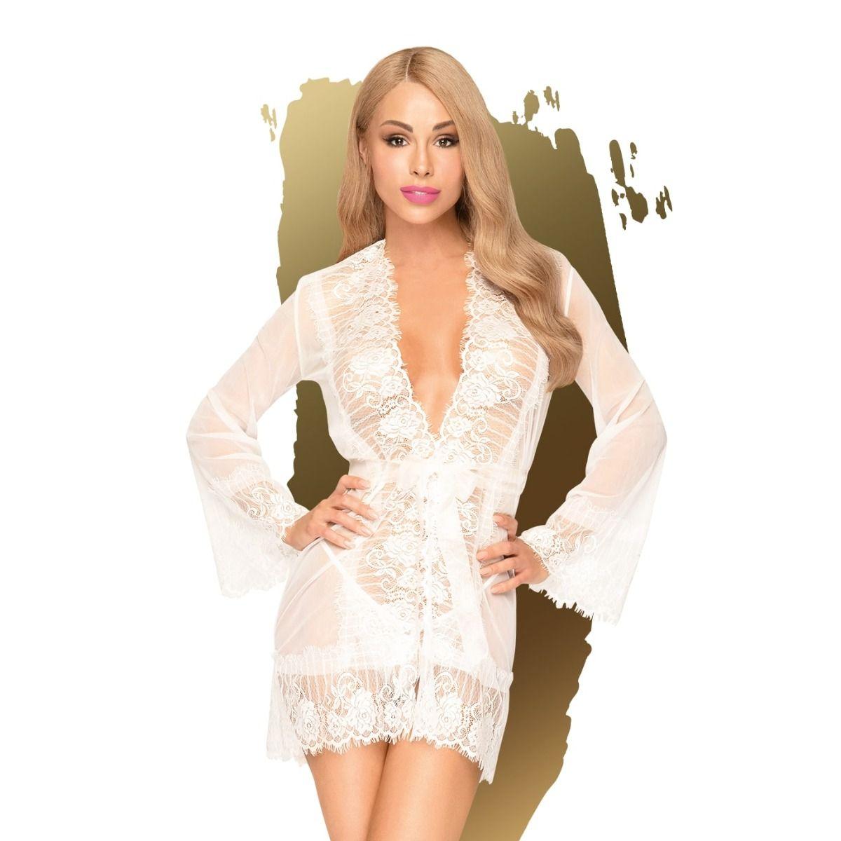 Penthouse Hypnotic Power Kimono Set White S-L