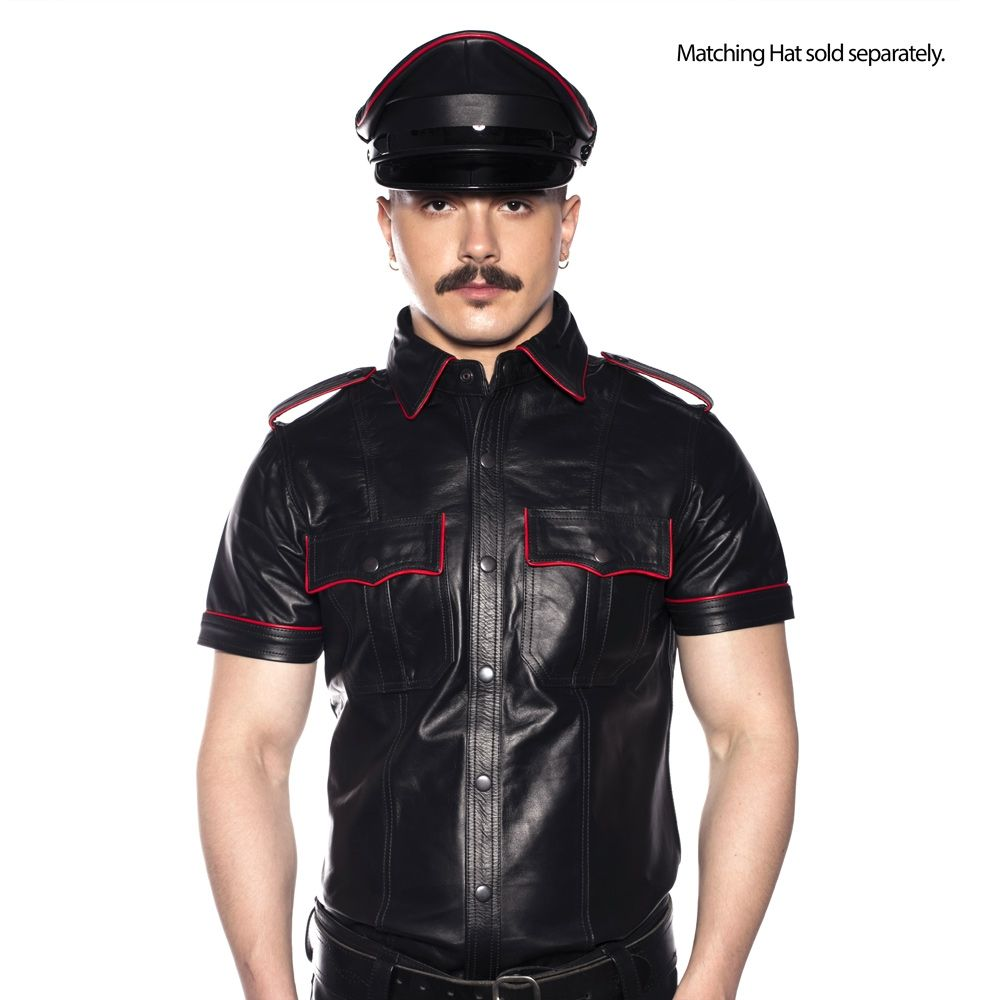 Prowler RED Police Shirt Piped Black/Red XL