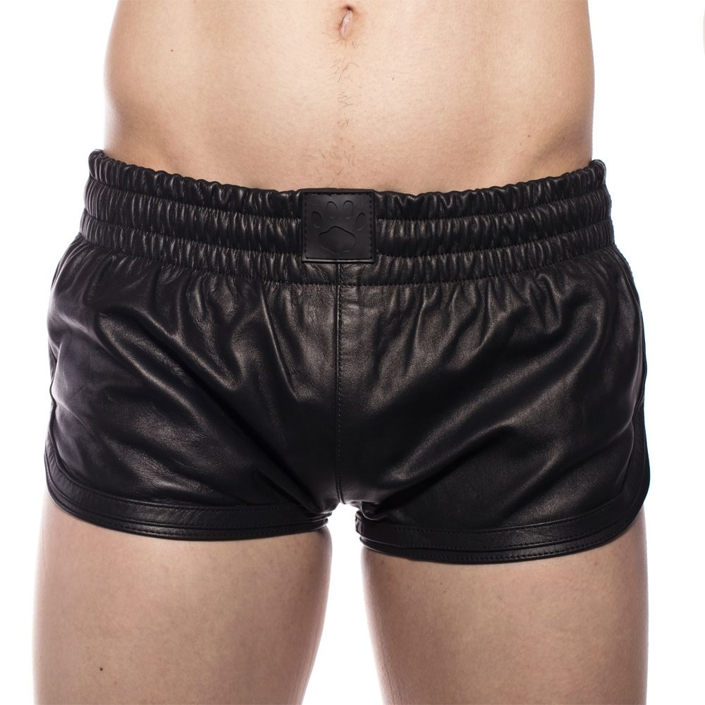 Prowler RED Leather Sports Shorts Black Small