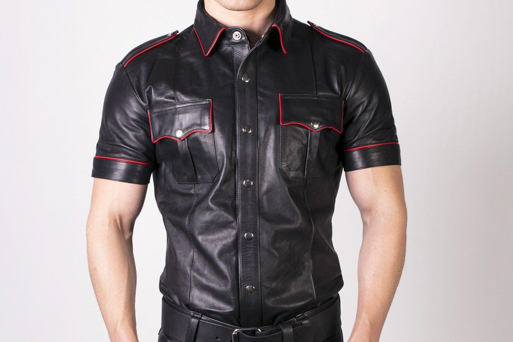 Prowler RED Slim Fit Police Shirt Black/Red Large