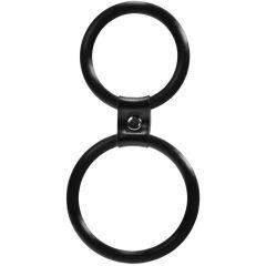 Me You Us Dual Ring Cock Ring Black
