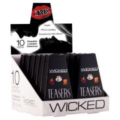 Wicked Sensual Care Teasers Flavoured 10 Pack Sampler Box Black 3ml