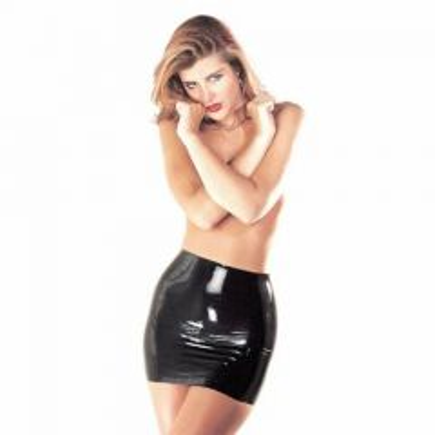 Sharon Sloane Latex Mini Skirt Black Medium