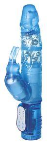 Me You Us Twin Turbo Rabbit Vibrator Blue
