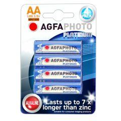 Agfa Agfa Alkaline Aa 4 Batteries Per Card Blue