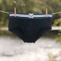 Bluebuck Black Brief with Blue Stitching Small