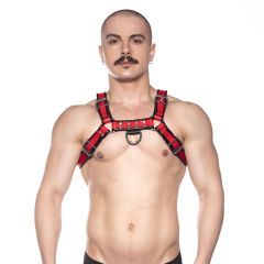 Prowler RED Leather Bull Harness Red