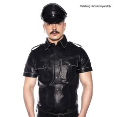 Prowler RED Police Shirt Piped Black Medium