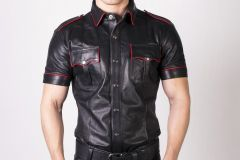 Prowler RED Slim Fit Police Shirt Black/Red Small