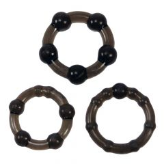 Me you Us Easy Squeeze Cock Ring Set Black