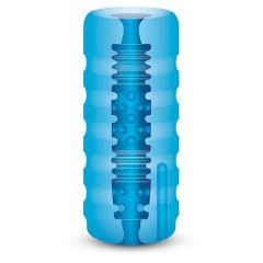 Zolo Backdoor Squeezable Vibrating Stroker Vibrating Stroker Blue Os
