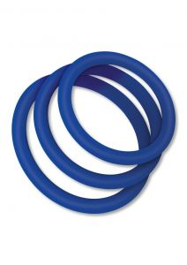 Zolo CLASSIC STRETCHY SILICONE COCK RING Blue